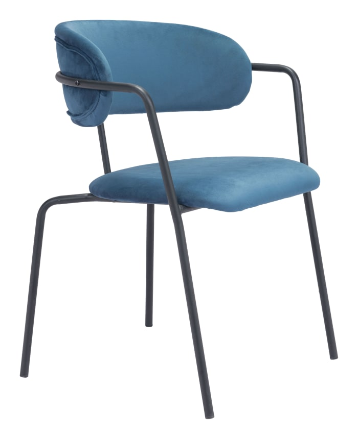 Emrys Blue & Black  Set of 2 Dining Chairs