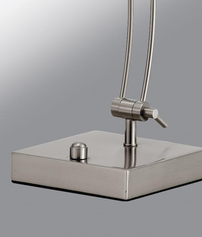 Adjustable Brushed Steel Metal LED Desk Lamp