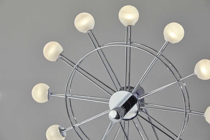 Chrome Ferris Wheel Small Table Lamp