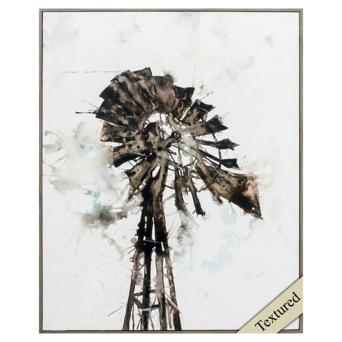 Watercolor Windmill Wall Art