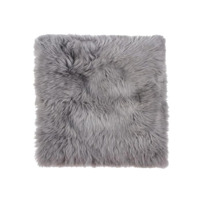 Gray Sheepskin Seat Chair Cover