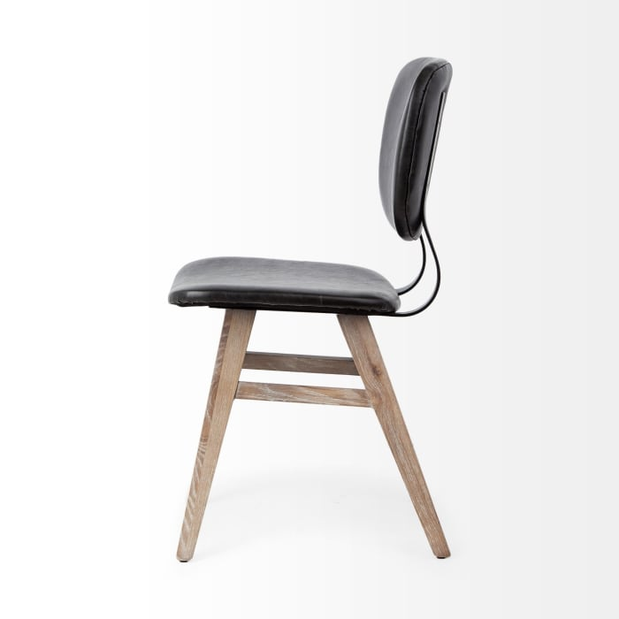 Black Faux Leather Dining Chair