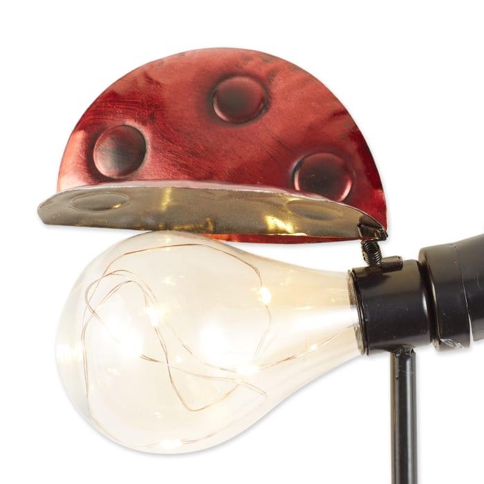 Ladybug Glow Bug Solar Stake