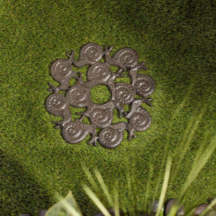 Snail Design Cast Iron Stepping Stone