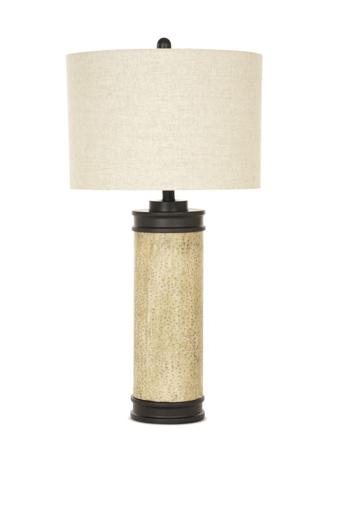 Rustic Cork Look Burnished Brown Set of 2 Table Lamps