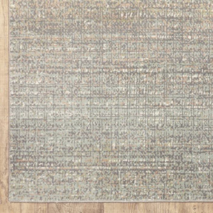 Abstract Confetti Gray Green Indoor Runner Rug