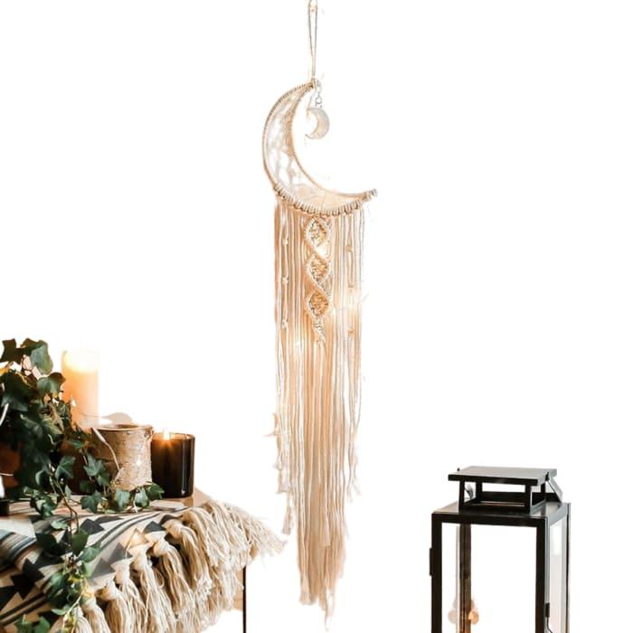 Moon Phase Cotton Dreamcatcher