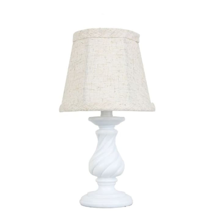 Twisted White Candlestick Accent Lamp
