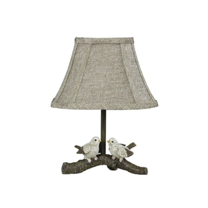 Two Cheery Birds on a Branch Accent Lamp