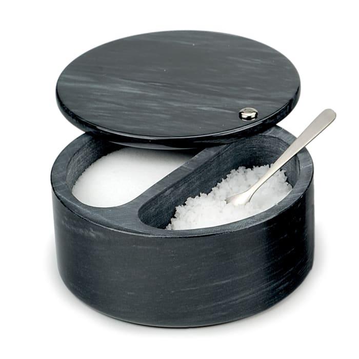 Marble Black Salt Box