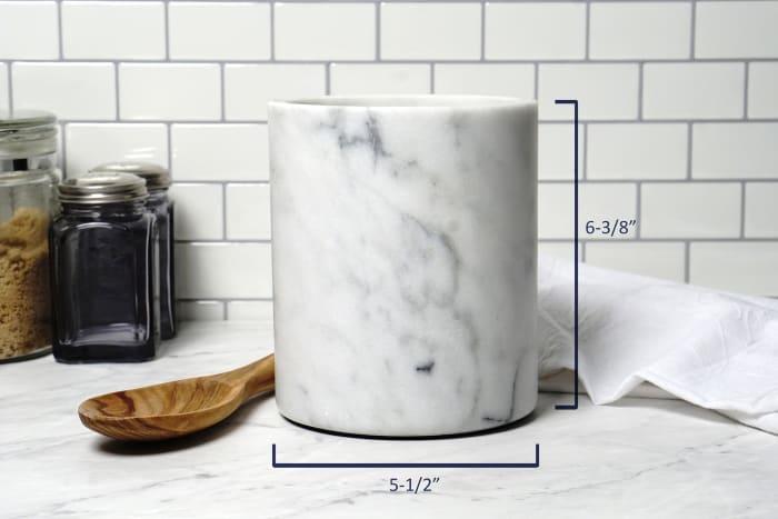 Marble Wine Cooler & Utensil Storage