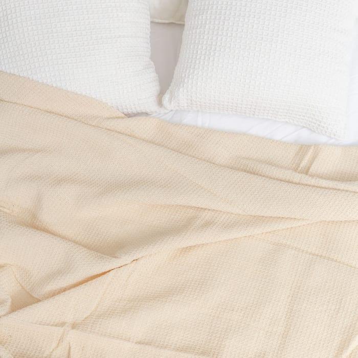 Honeycomb Waffle Cotton Queen Blanket