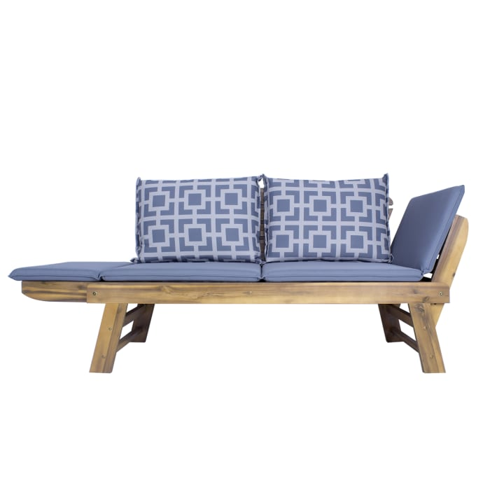 Wooden Daybed Outdoor Bench