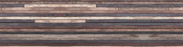 Wood Strips Backsplash