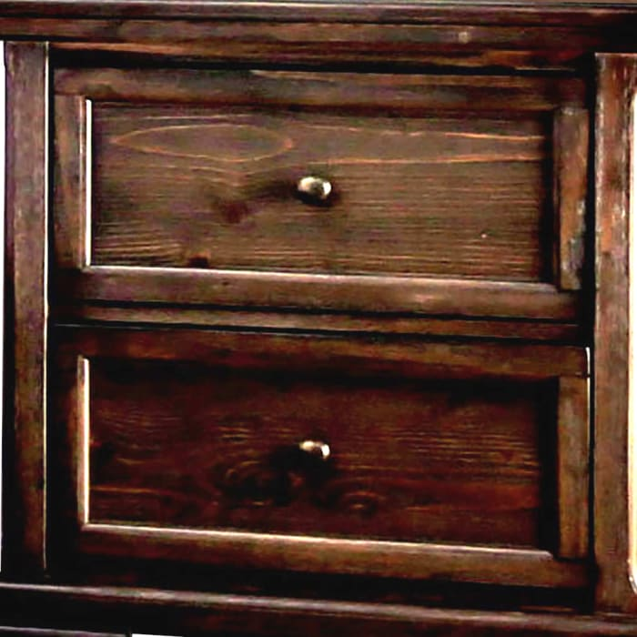Transitional Molded Trim 2-Drawer Wooden Brown Nightstand