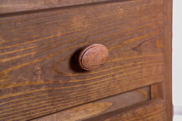Mahogany Finish 2-Drawers Wooden Brown Nightstand