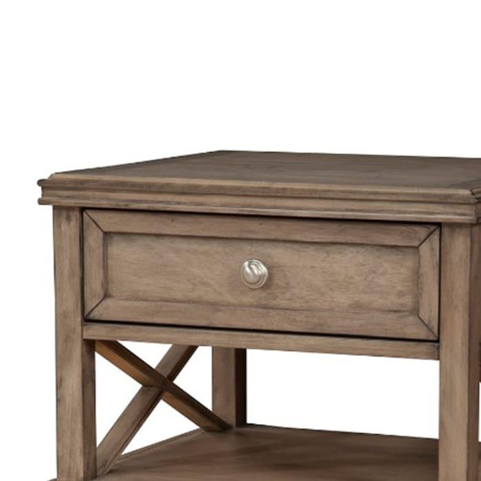 Mahogany 1-Drawer Wood French Truffle Brown Nightstand