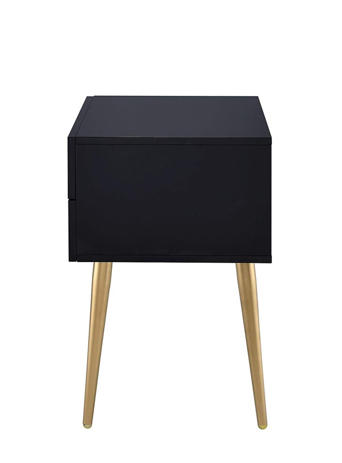 Denvor Black & Gold Square with Drawers End Table