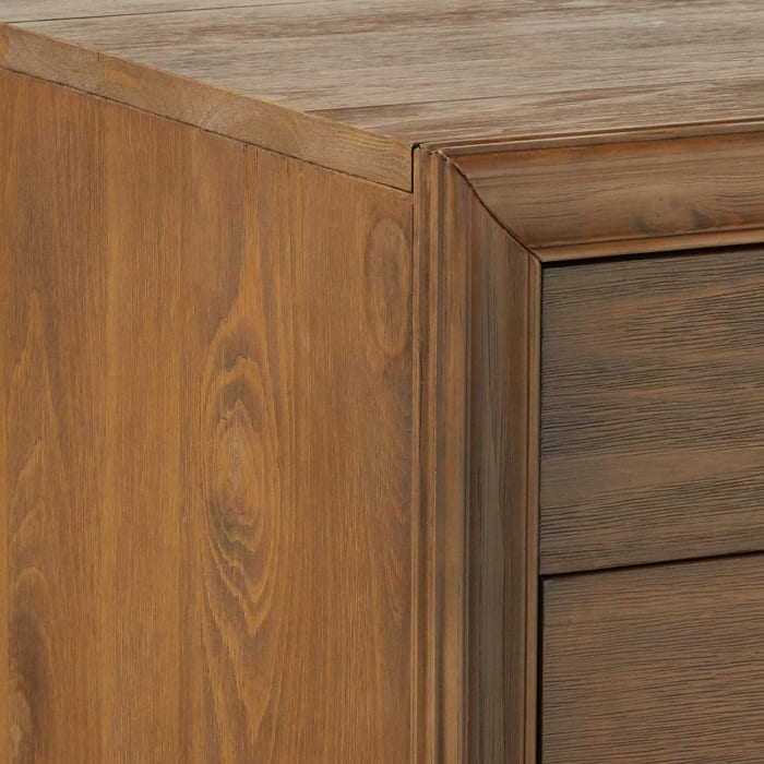 Turned Tapered Legs 3-Drawer Wooden Brown Nightstand