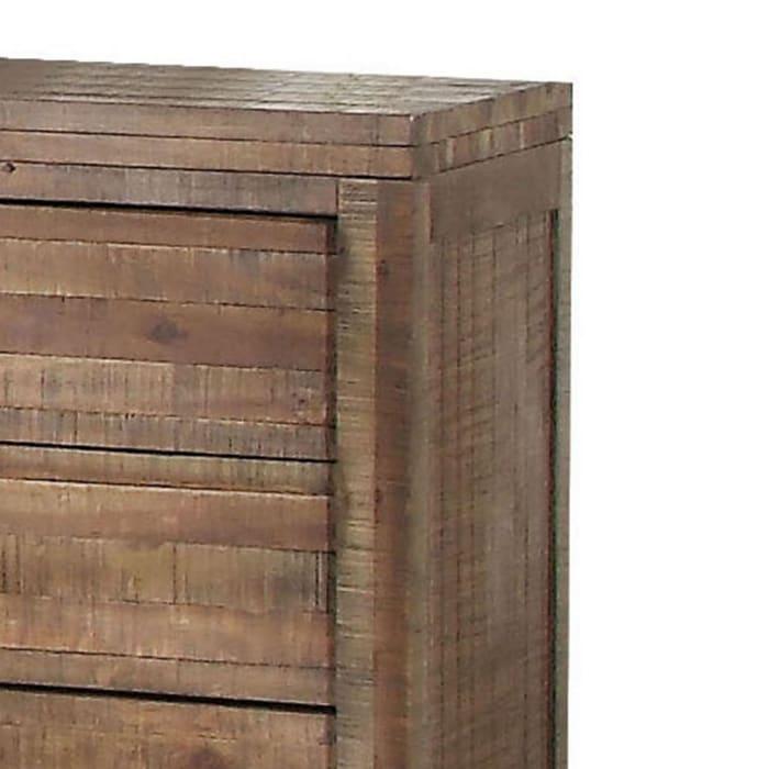 Andria Modern 3-Drawer Wood Brown Nightstand