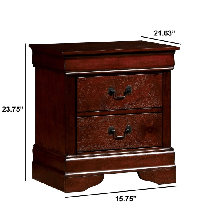 Louis Philippe III Contemporary Nightstand