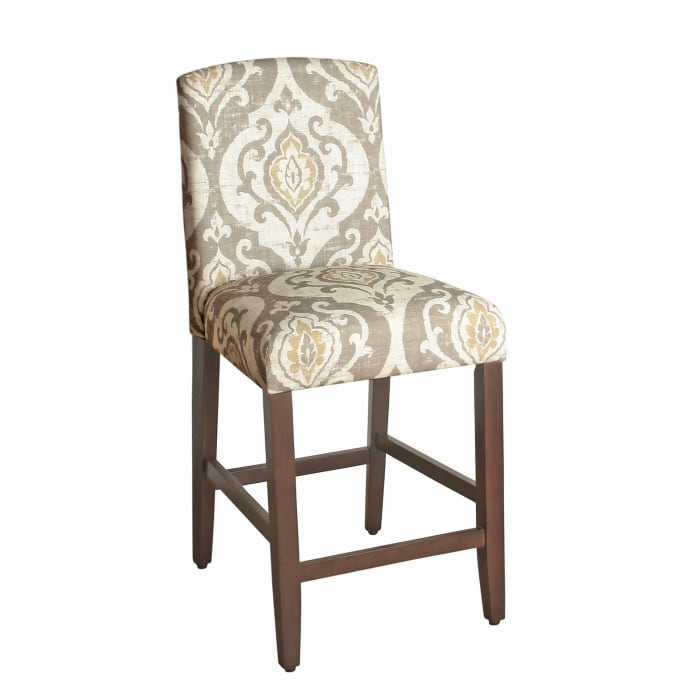 Clitheroe Fabric Upholstered Wooden Bar Stool