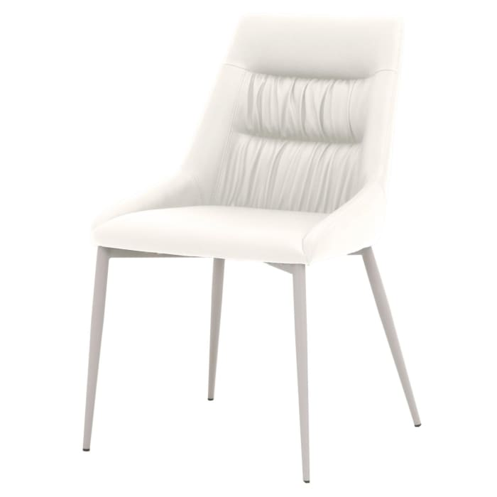 Faux Leather Upholstered Dining Chair with Metal Legs, Set of 2, Gray