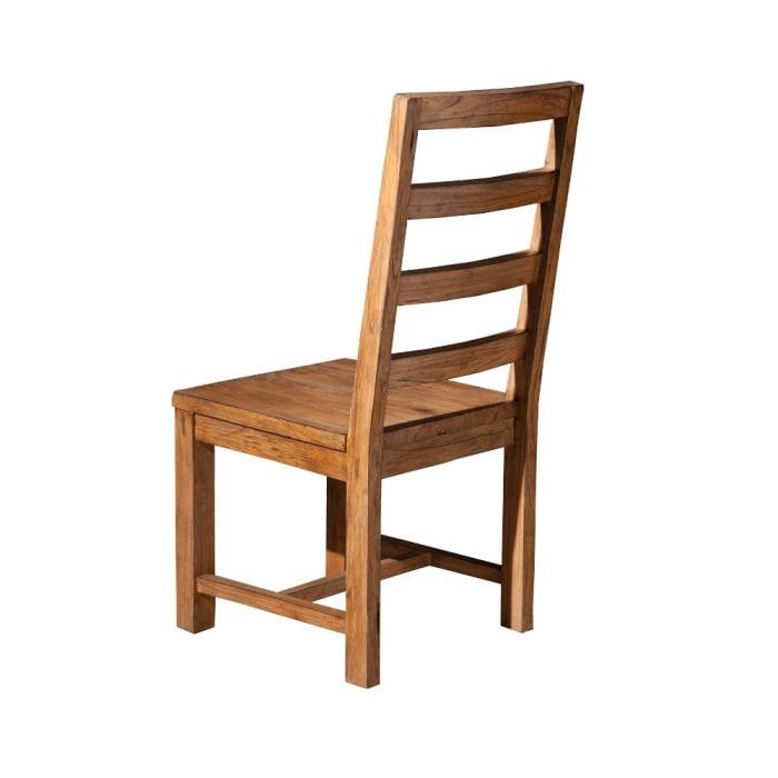 Simple and Suave Mahogany Wood Side Chair, Brown (Set of 2)