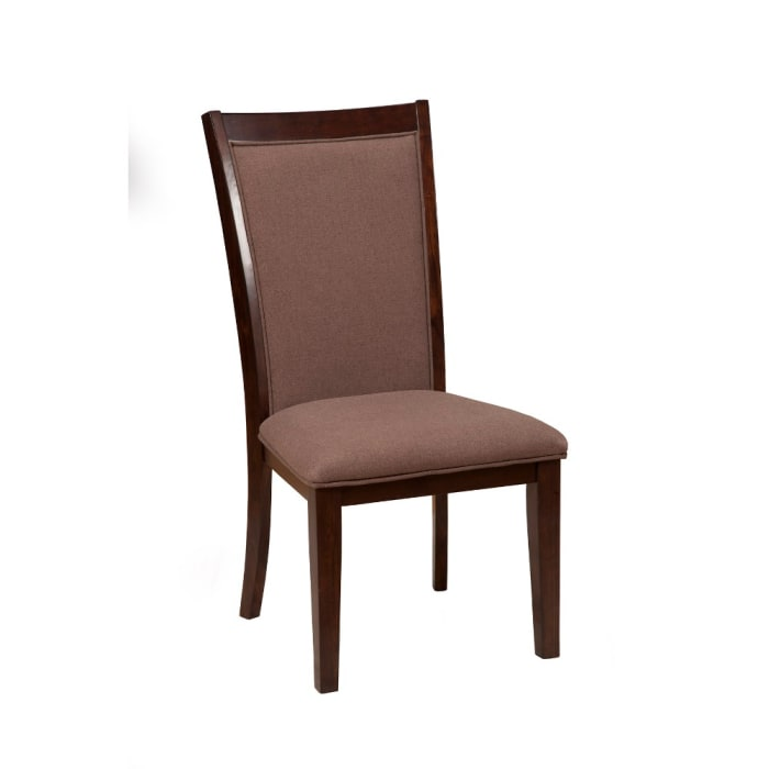 Appealing Upholstered Side Chairs In Wood Set Of 2 Brown