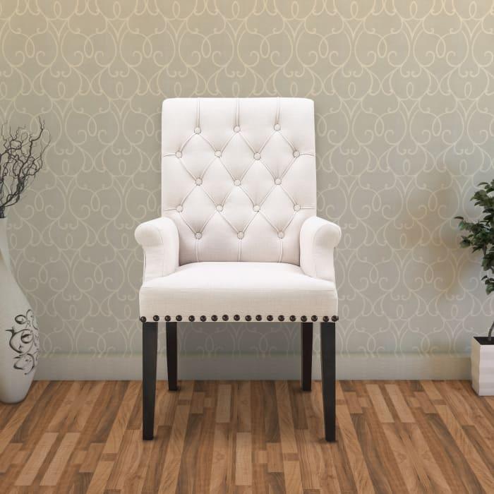 William Parson Side Dining Chair, Beige & Smokey Black