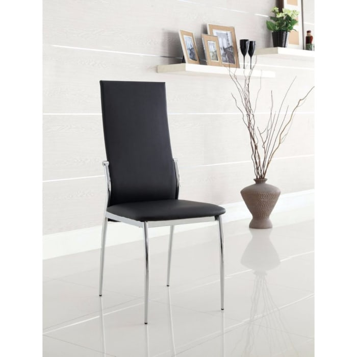 Kalawao Contemporary Side Chair, Black Finish, Set of 2