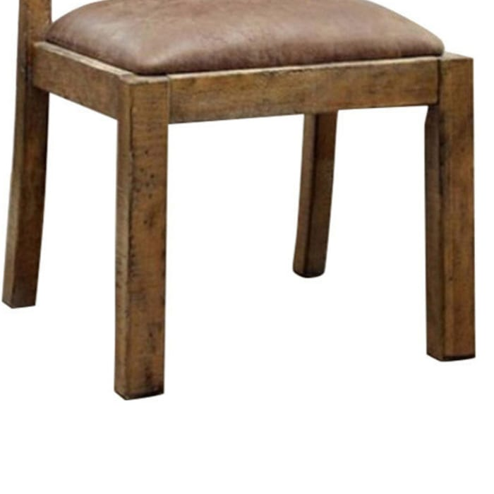 Gianna Cottage Side Chair With Fabric, Rustic Pine