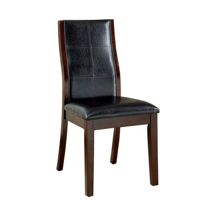 Townsend I Transitional Side Chair, Brown Cherry Finish, Set of 2