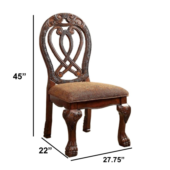 Wyndmere Traditional Side Chair, Cherry Finish, Set of 2