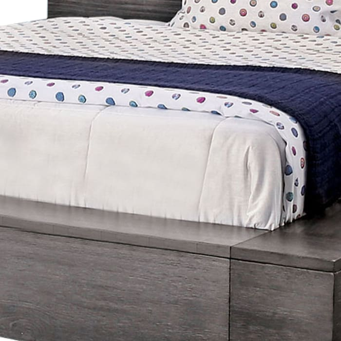 Low Profile Queen Size Bed, Gray