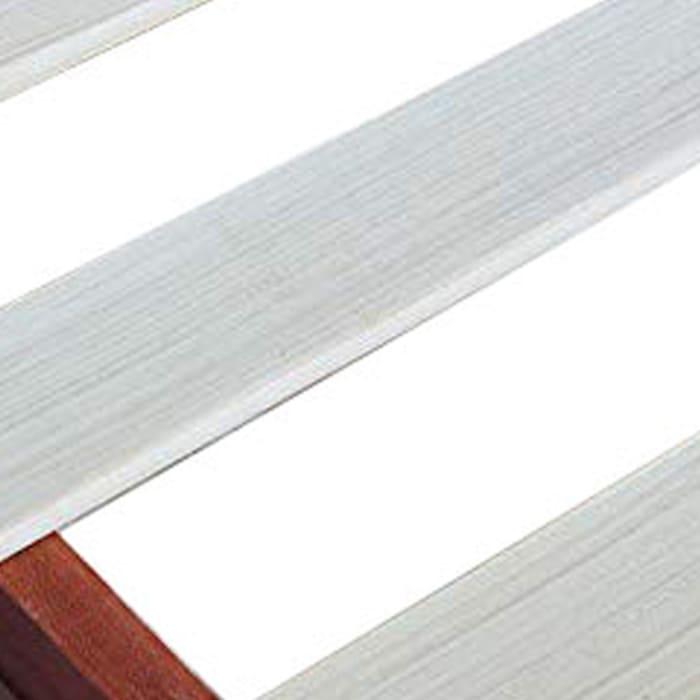 Slatted King Size Anti Skid Wooden Bed Frame, Espresso Brown