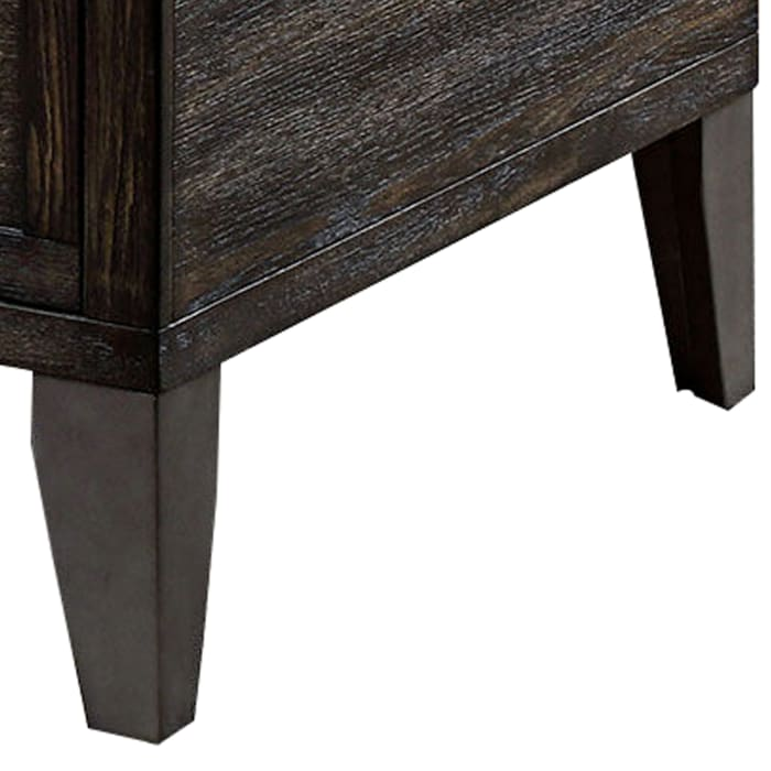 Lift Top Wooden Coffee Table with 2 Drawers, Brown