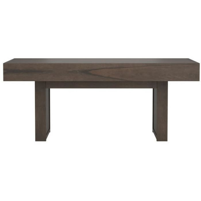 Rectangular Wooden Top Coffee Table with 1 Hidden Side Drawer, Taupe Gray