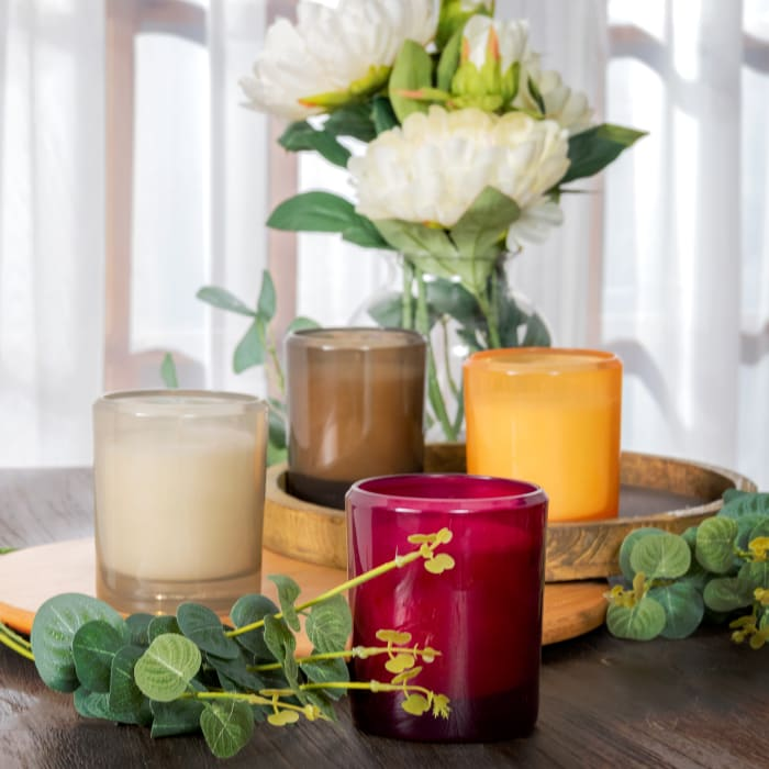 Pier 1 Ginger Peach Boxed Soy Candle 8oz