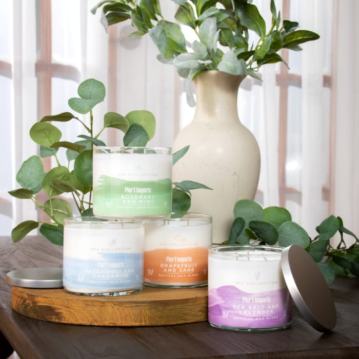 Pier 1 Spa Collection Patchouli & Cardamom Filled 3-Wick Candle
