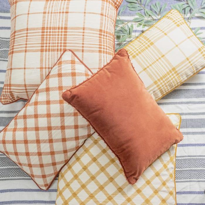 Pier 1 Rust Velvet Lumbar Pillow