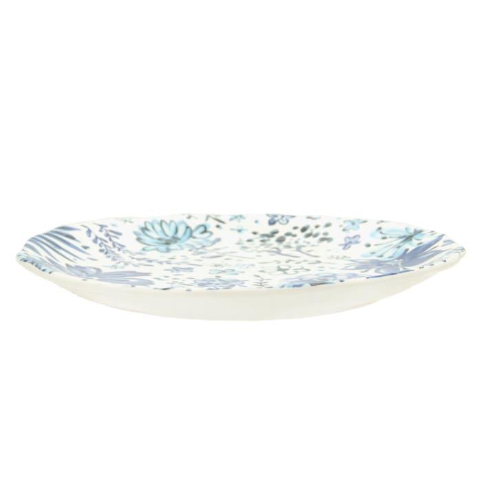 Pier 1 Blue Floral Salad Plates, Set of 4