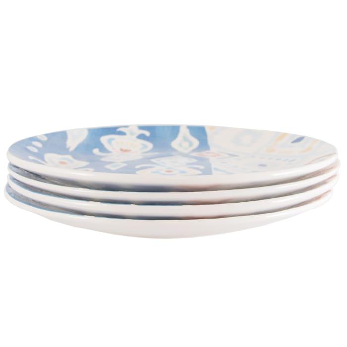 Pier 1 Carnival Dinner Plates, Set of 4