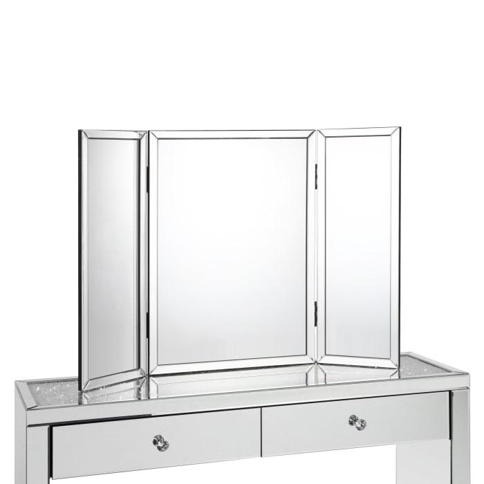 Trifold Mirror Tabletop Vanity Mirror