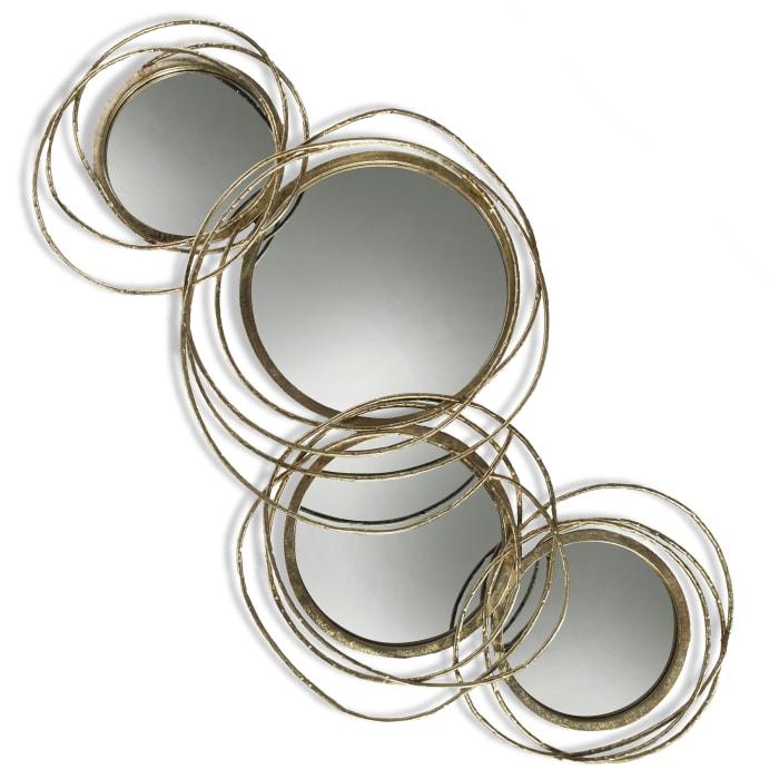 Conway Gold Metal Finish Mirror
