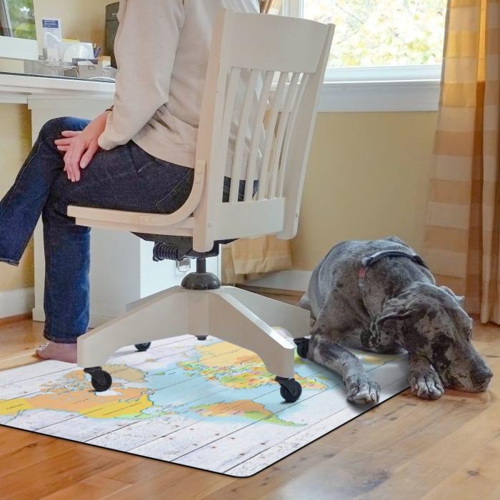 Whitewash World Bright 9 to 5 Desk Chair Mat