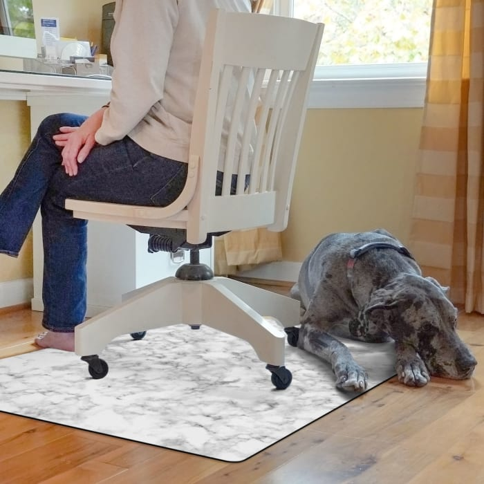 Classic Marble 9 to 5 Desk Chair Mat