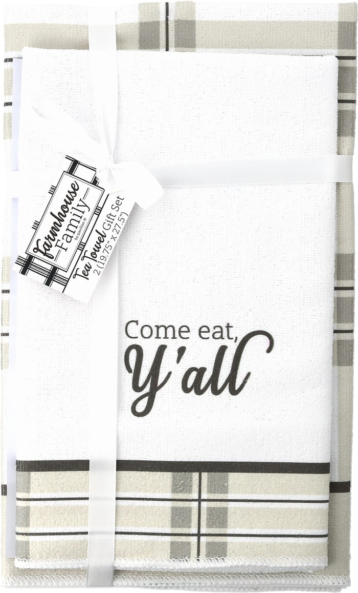Come Eat Y'all Set of 2 Tea Towels