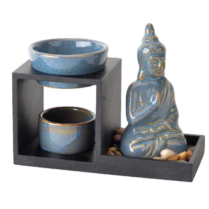 Vintage Blue Buddha Ceramic Oil Burner