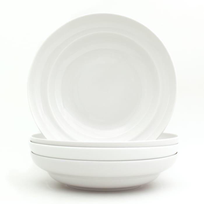 Essential White Set of 4 Pasta Bowls